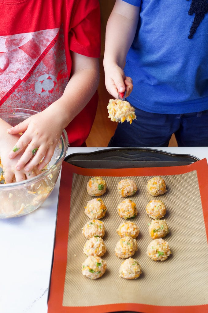 Children Forming and Rolling Meatballs