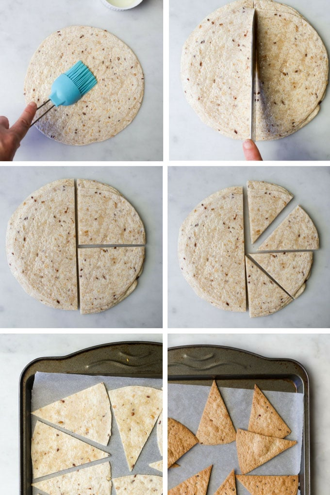 Process Steps - How to Make Baked Tortilla Chips