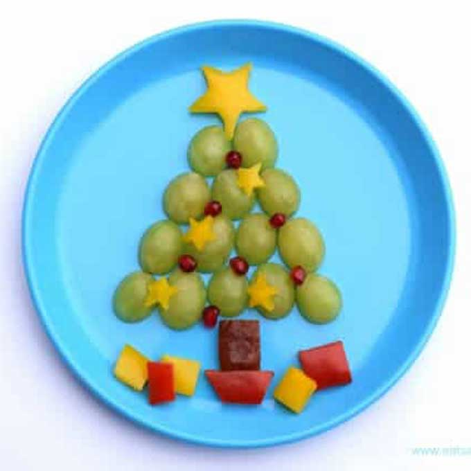 Chritmas Tree Made from Grapes