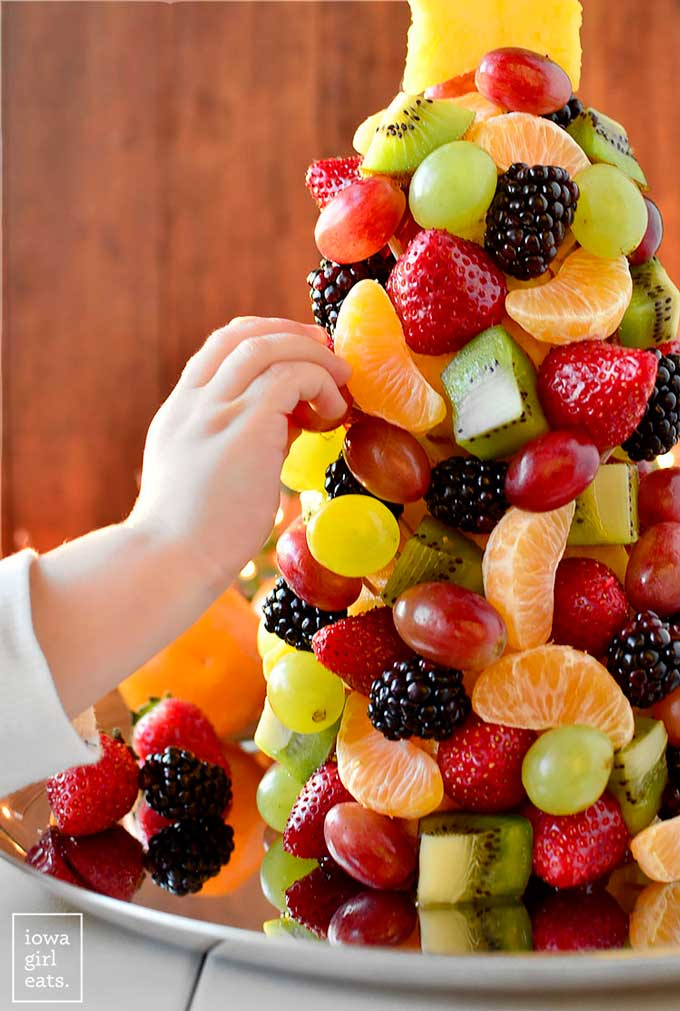 Christmas Tree made from Fruit