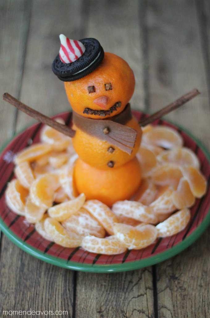 Snowman Made from Mandirins