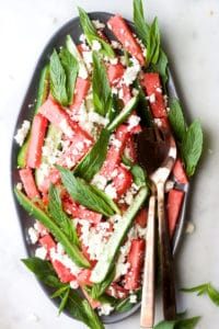 Watermelon Feta Mint Salad