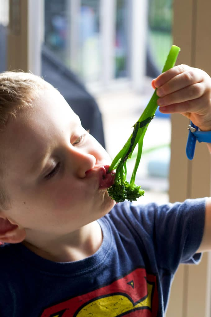 Child Eating Broccolini