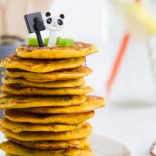 Stack of Chickpea Pancakes