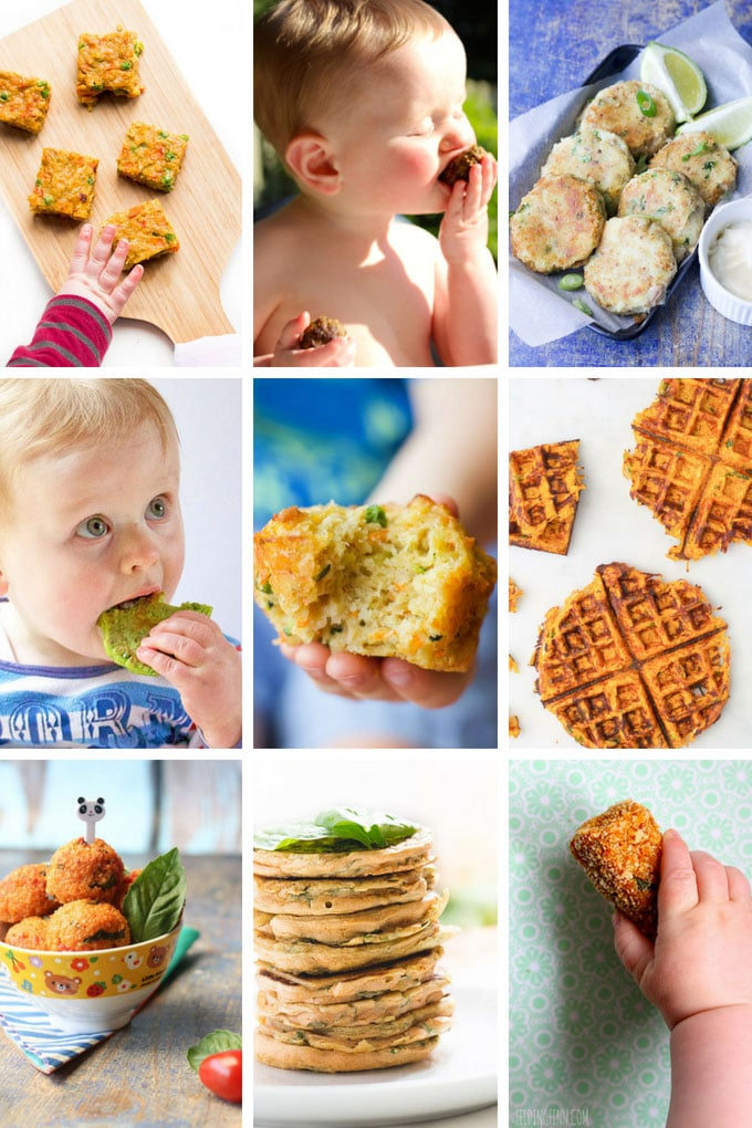 Collage of Savoury Finger Food Recipes for Babies