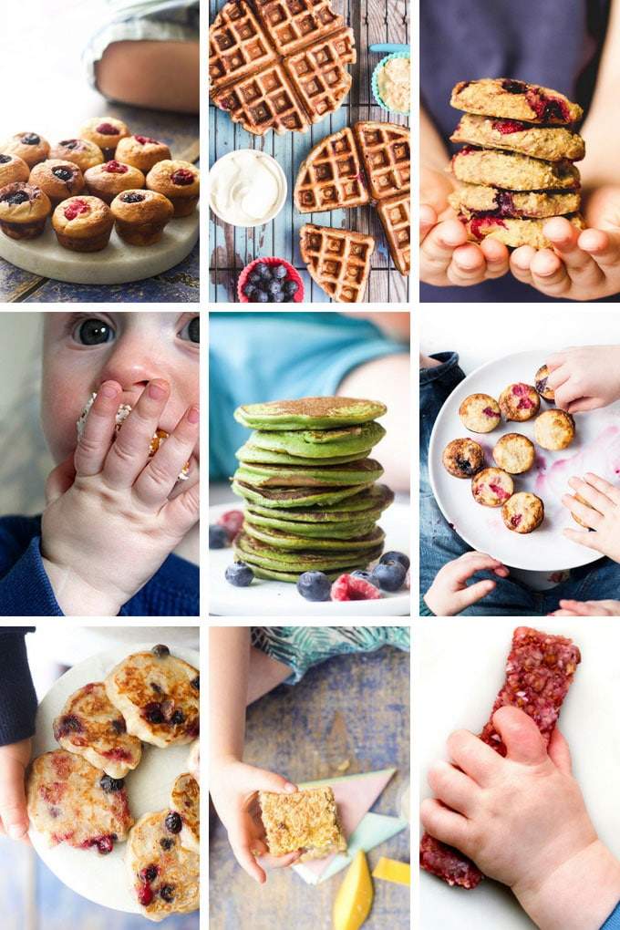 Collage of Fruit Sweetened Finger Food For Babies