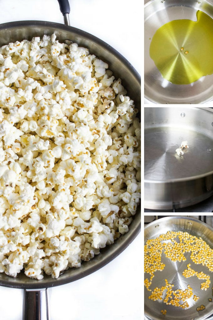 Homemade Popcorn on the Stove Process Steps