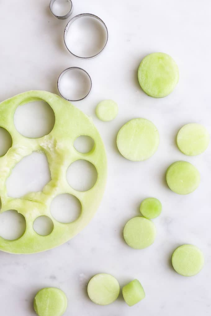 Circles Cut from Melon Slice