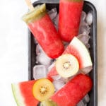 Watermelon Popsicles Served in Tray