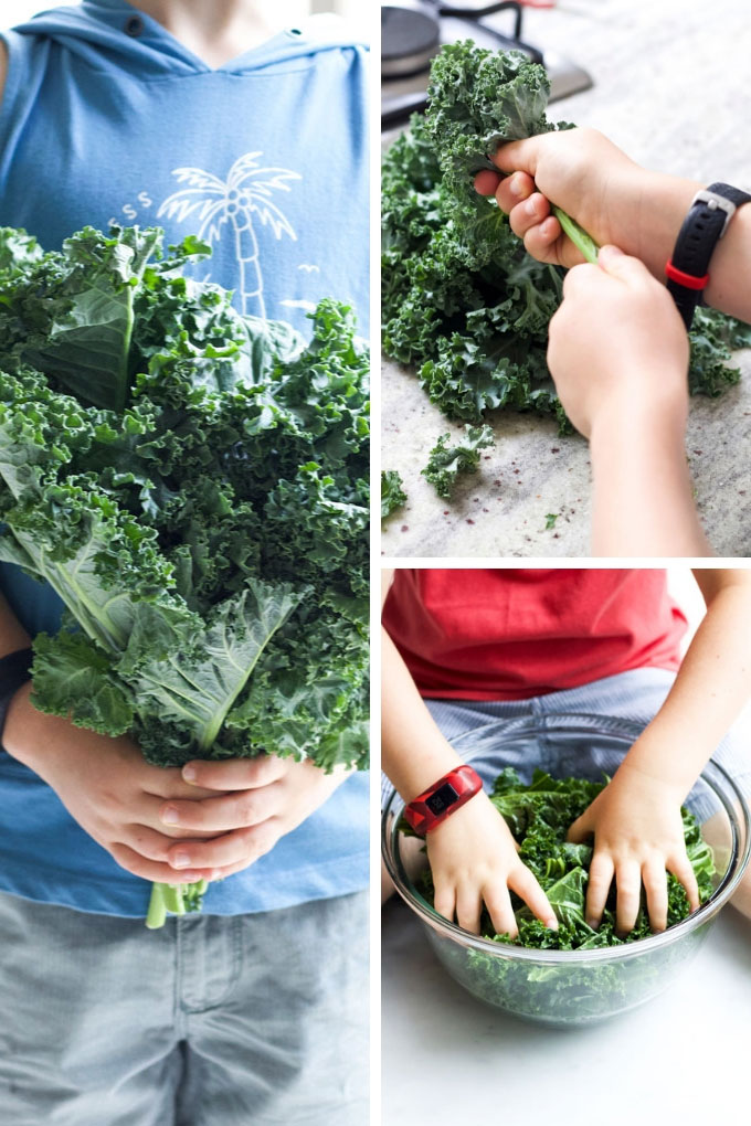 Process Steps for Making Baked Kale Chips