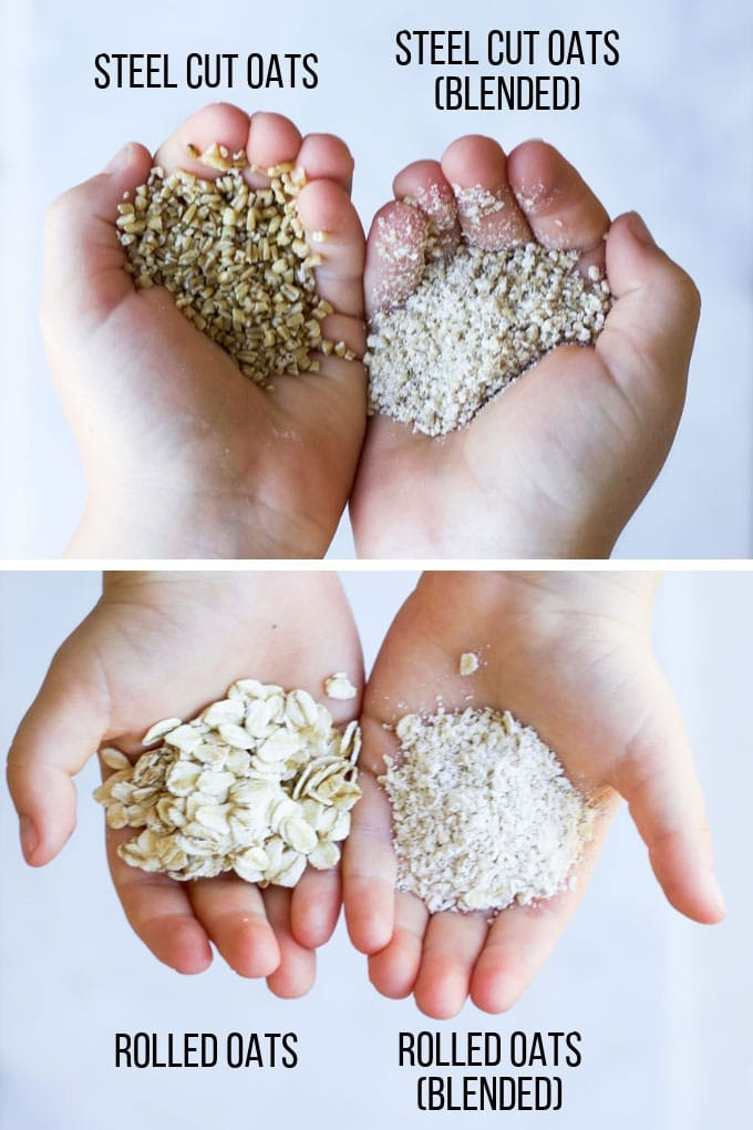 Rolled Oats Whole and Blended and Steel Cut Oats Whole and Blended
