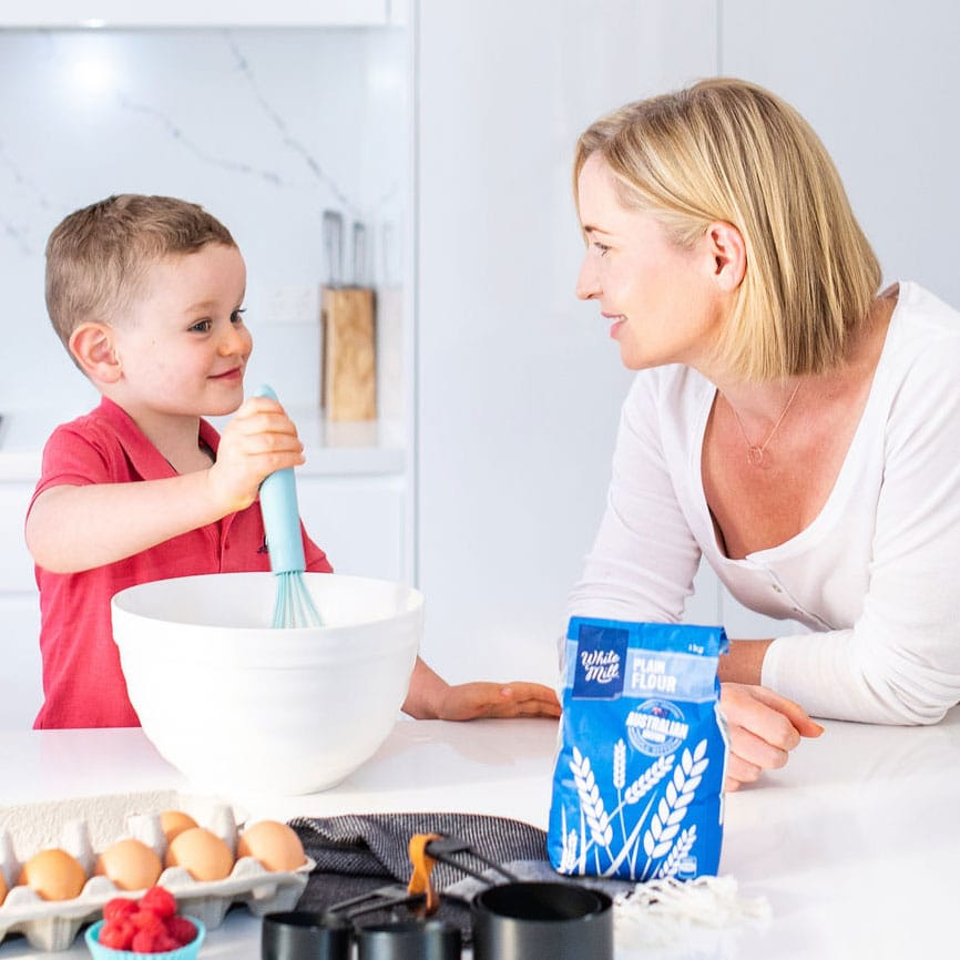 Mum Cooking with Child