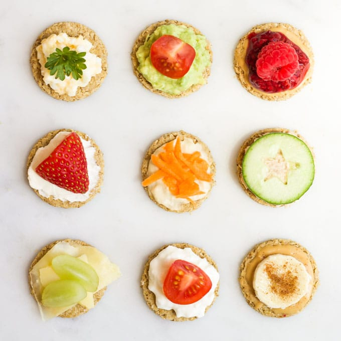 Oatcakes with Sweet and Savoury Topping Ideas