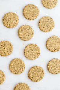 Flat lay Photo of Scottish Oatcakes.