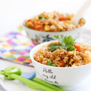 Vegetable Fried Rice in Bowls