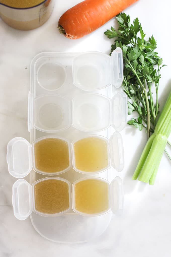 ChickenStock in Freezable Containers