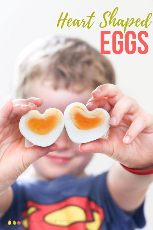 How cute are these Heart Shaped Eggs! They are so easy to make and no special moulds are needed A great Valentine's snack!#funfood #valentines #eggs #kidsfood #kidsfood
