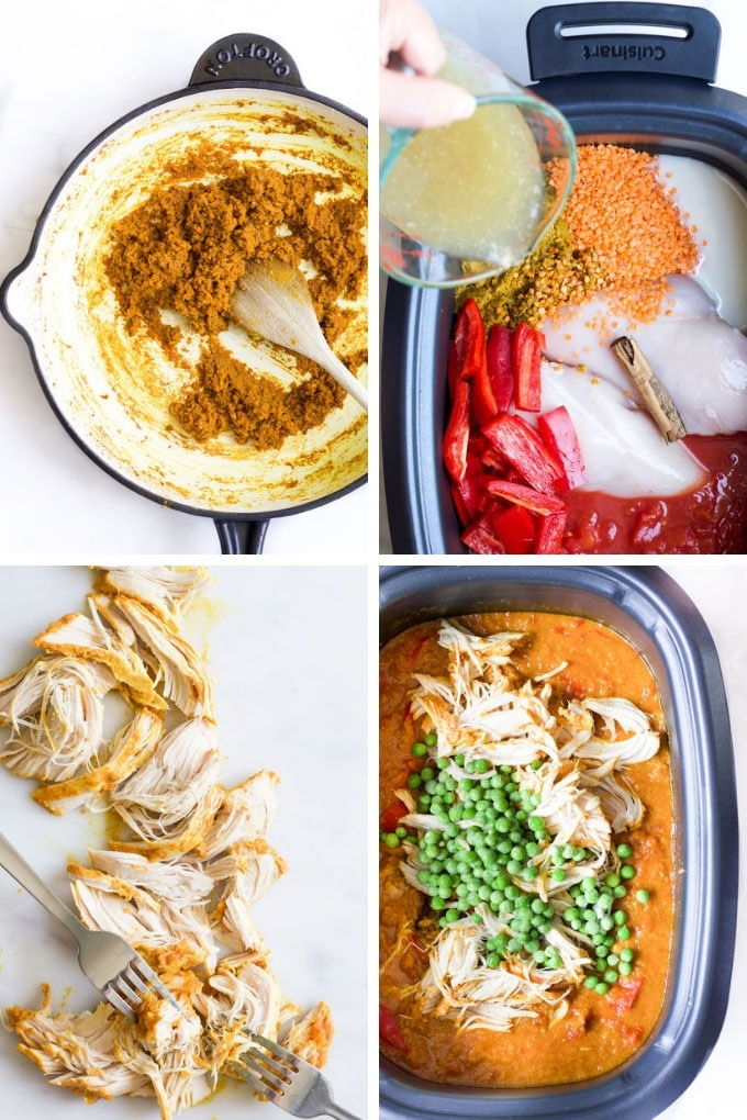 How to Make Slow Cooker Chicken Curry - Process Steps