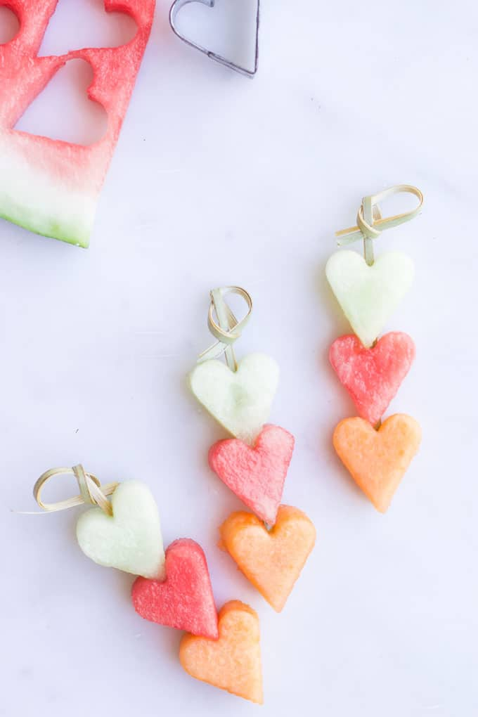 Heart Melon Fruit Kebabs