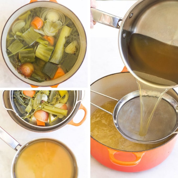 Process Steps for Making Vegetable Stock