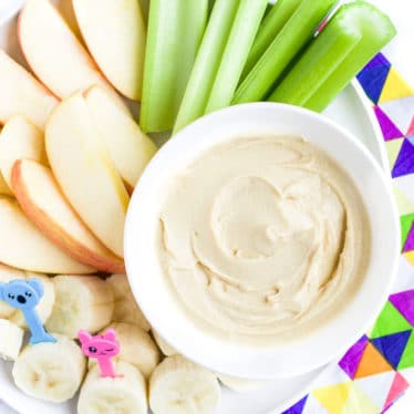 Fruit Platter with Peanut Butter Dip