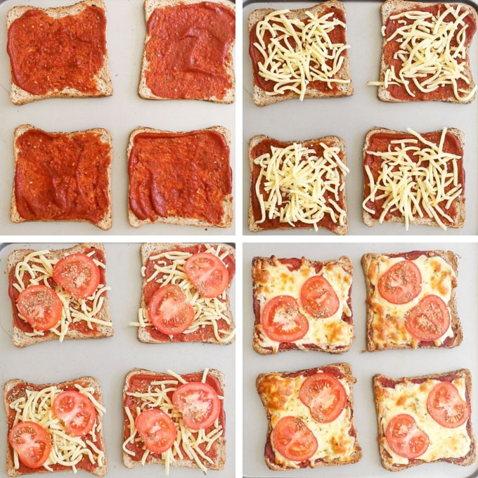Pizza Toast Process Steps
