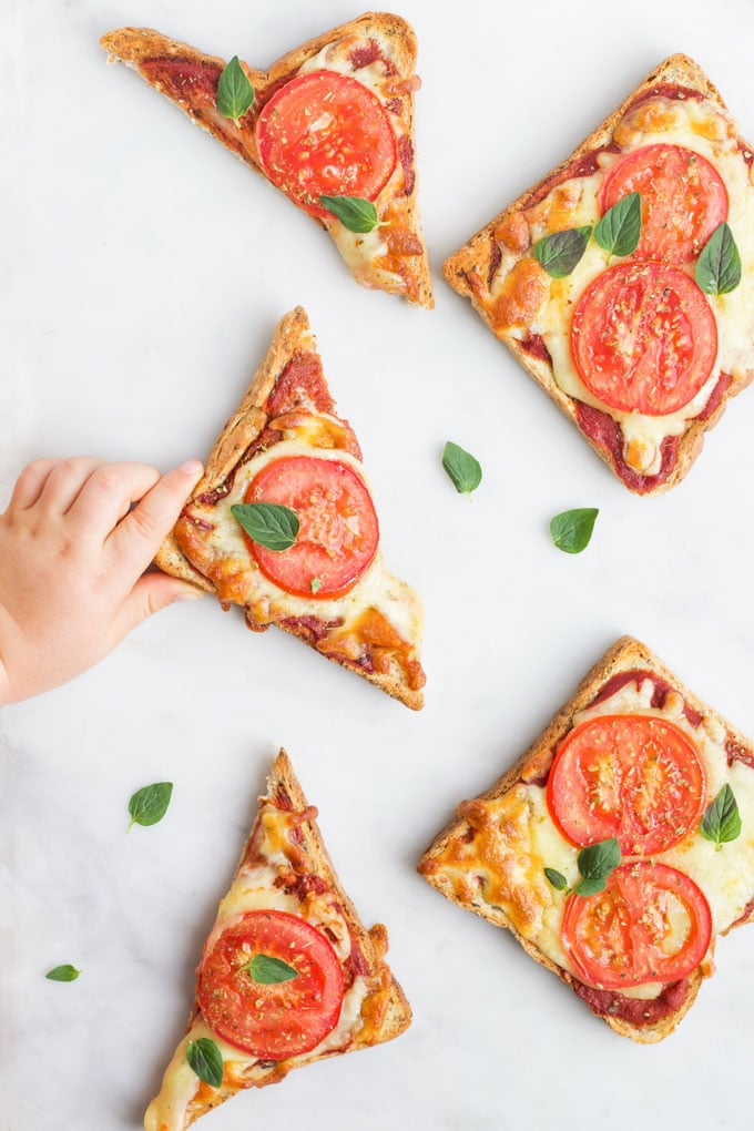 Pizza Toast Healthy Little Foodies