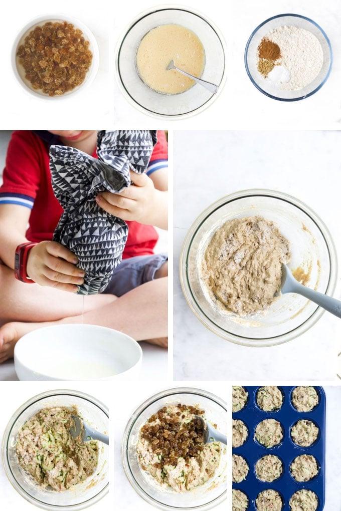 Zucchini Muffins Process Steps