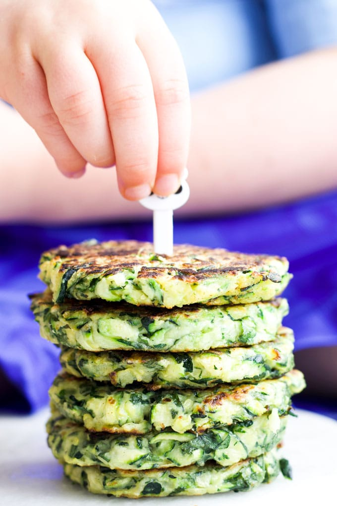Stack of Zucchini Fritters