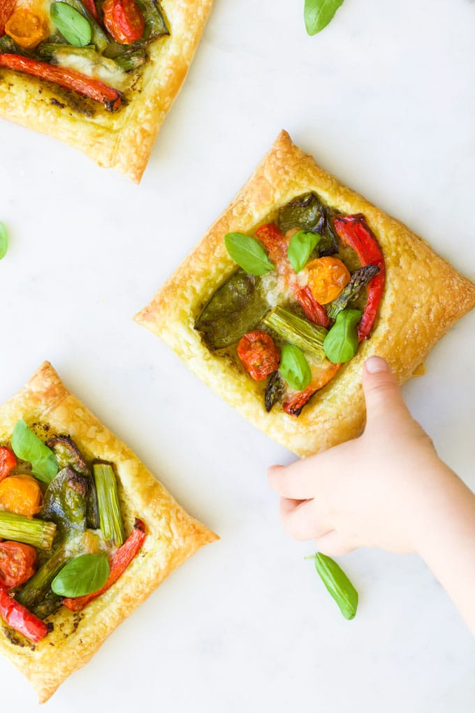 Child Grabbing Puff Pastry Tarts