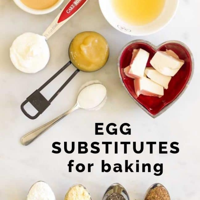 Image Showing the Many Baking Substitutes for Eggs