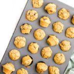Mini Sweet Potato Muffins in Baking Tray