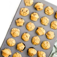 Mini Sweet Potato Muffins in Baking Tray