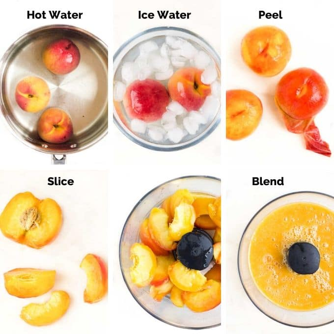 How to Make Peach Puree Process Steps