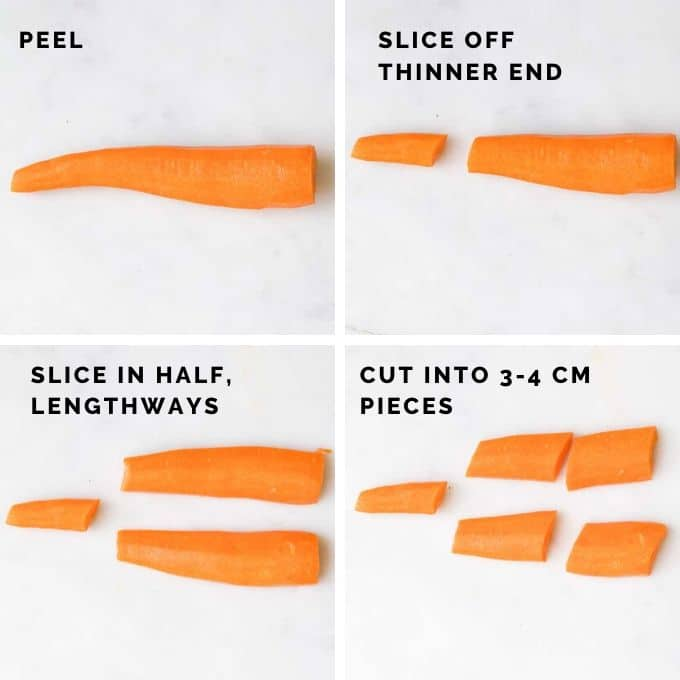 How to Cut Carrots for Baking