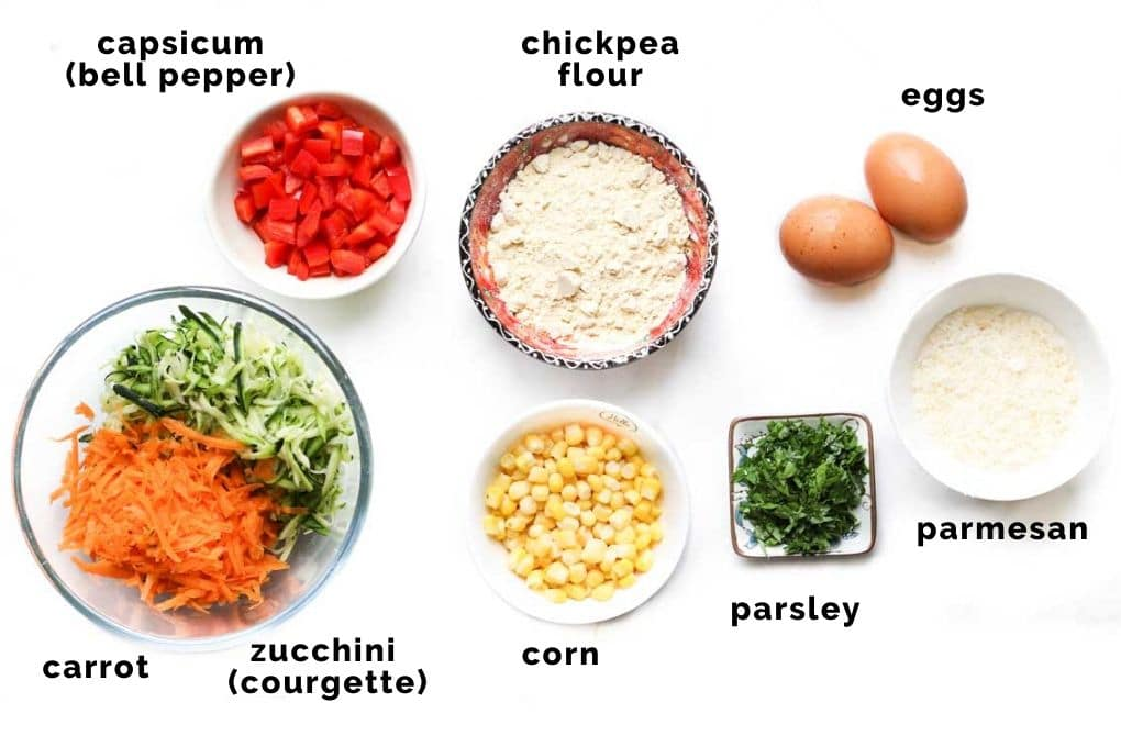 Ingredients to Make Vegetable Fritters