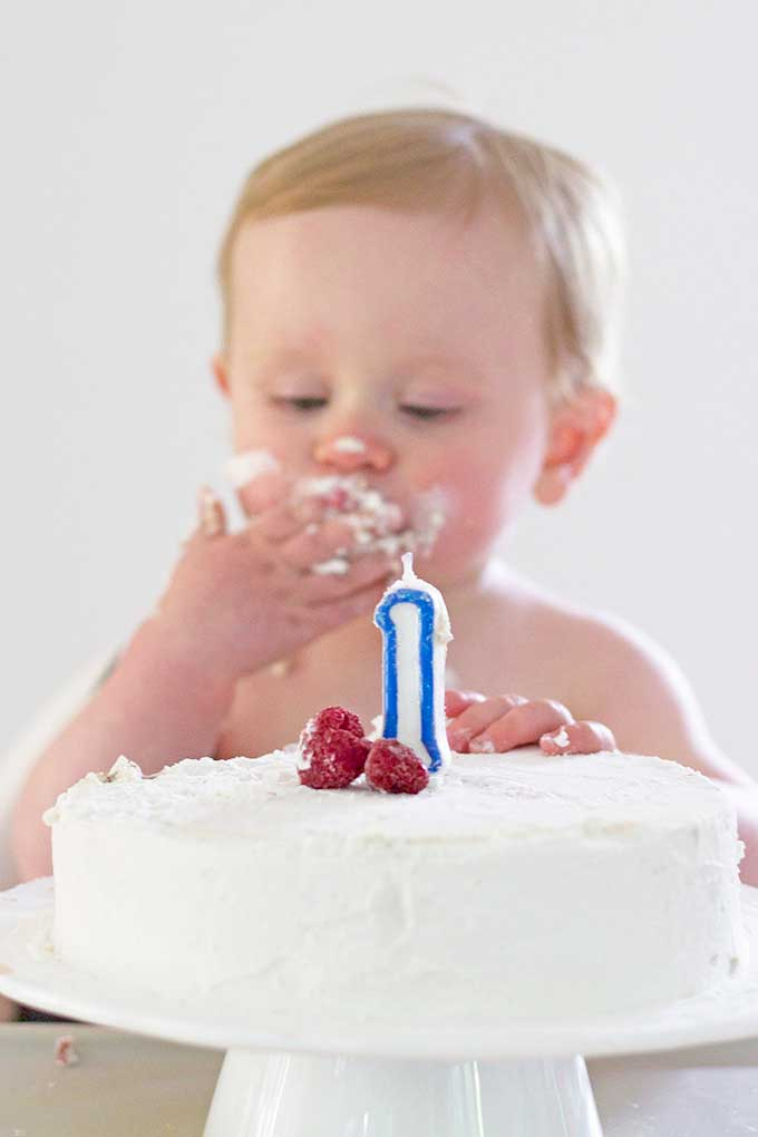 Swell Healthy First Birthday Cake A Smash Cake Sweetened Only With Fruit Personalised Birthday Cards Veneteletsinfo