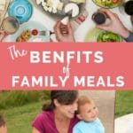 The Benefit of family meals long pin