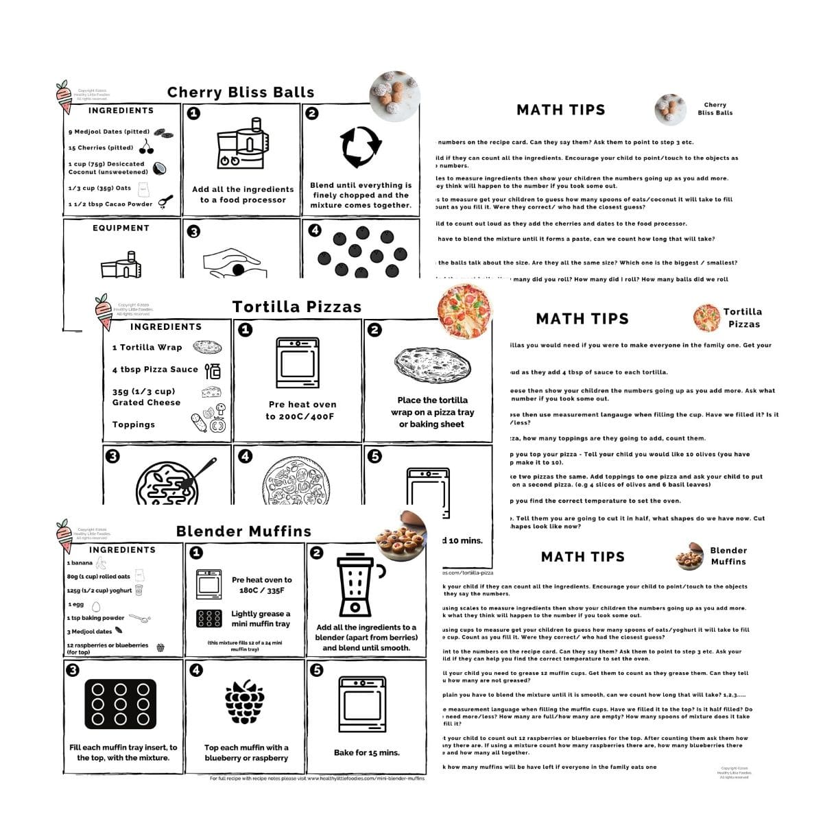 Developing Early mathematical Skills Through Cooking Resource Cards