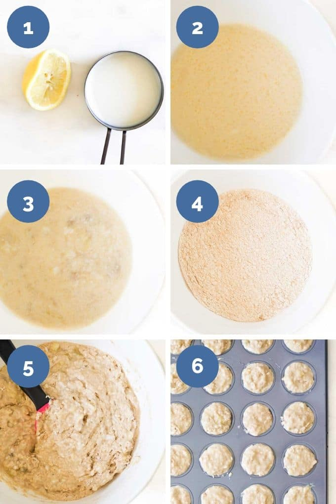 Process Steps for Making Banana Baby Muffins