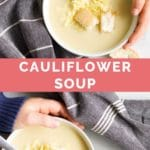 Cauliflower Cheese Soup Long Pinterest PIn