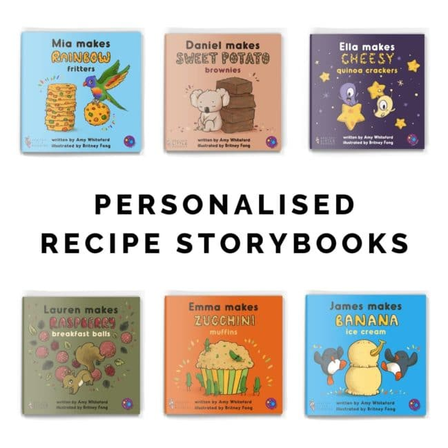 Covers for Six Personalised Recipe Storybooks