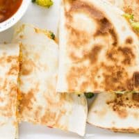 Top Down Shot of Vegetable Quesadillas