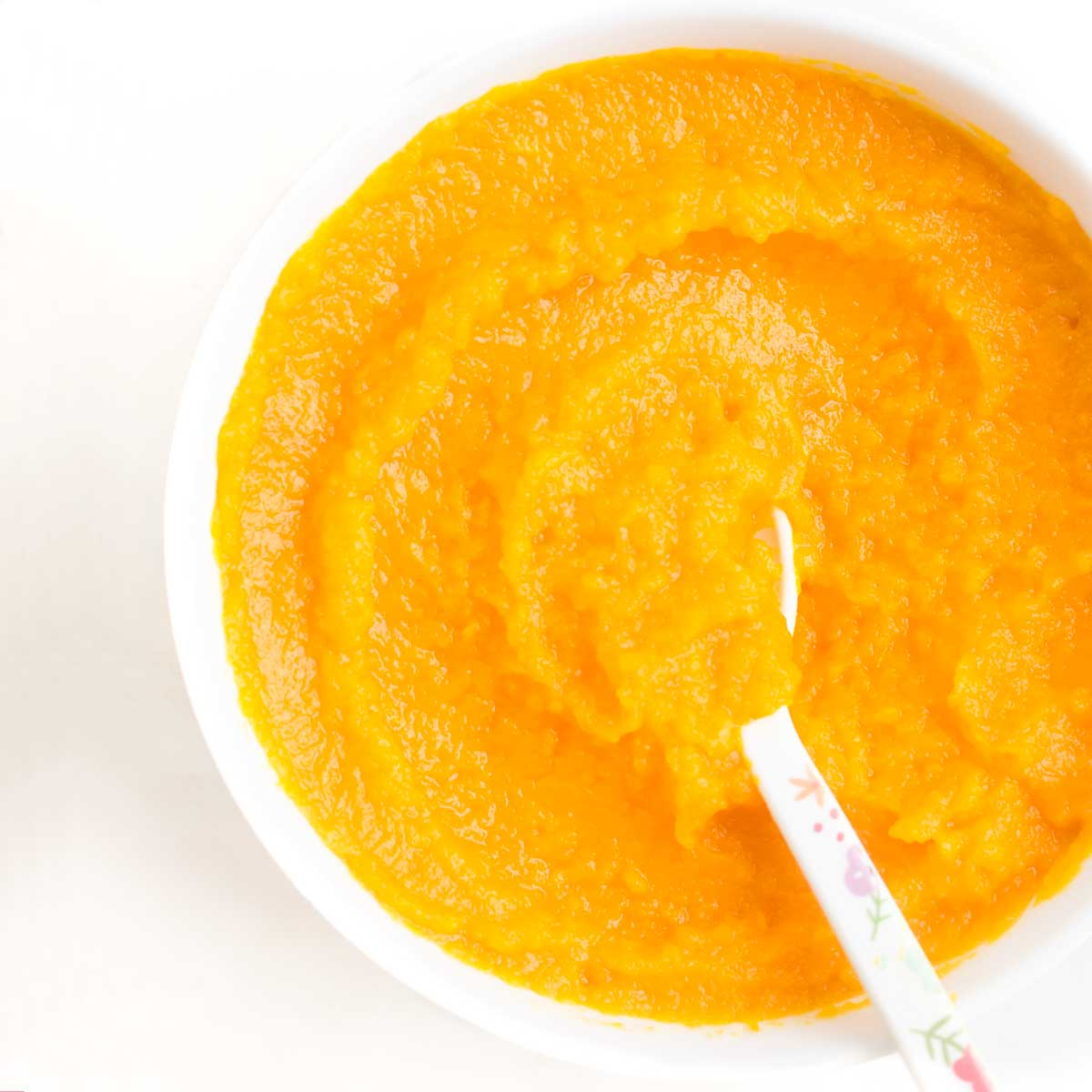 Carrot Puree in Bowl
