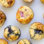 Top down Shot of Fruity Egg Muffins on Surface