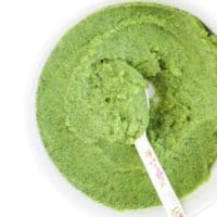 Broccoli Puree in Bowl