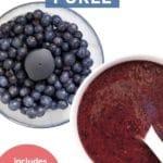 Blueberry Puree Pinterest Pin