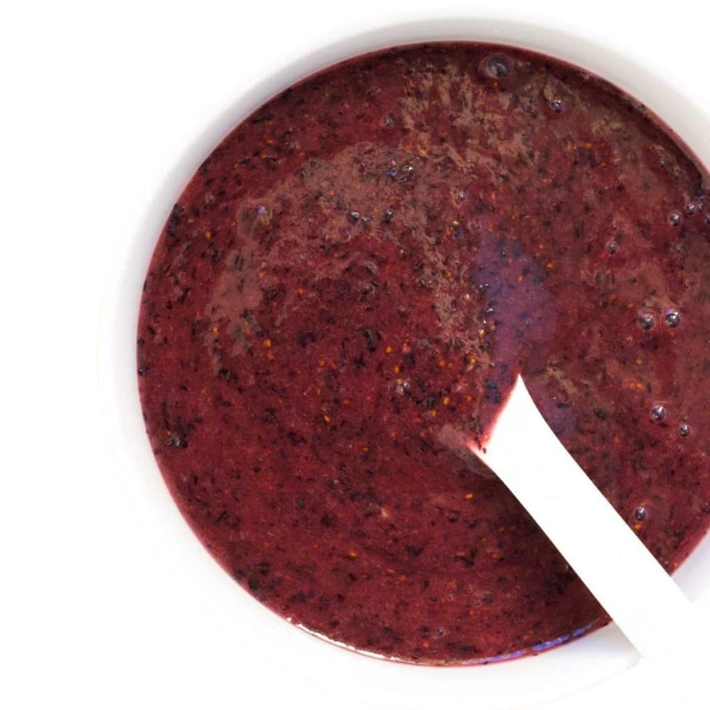 Blueberry Puree in Bowl