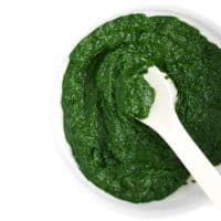 Spinach Puree in Bowl