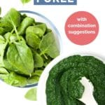 Spinach Puree Short Pinterest Pin